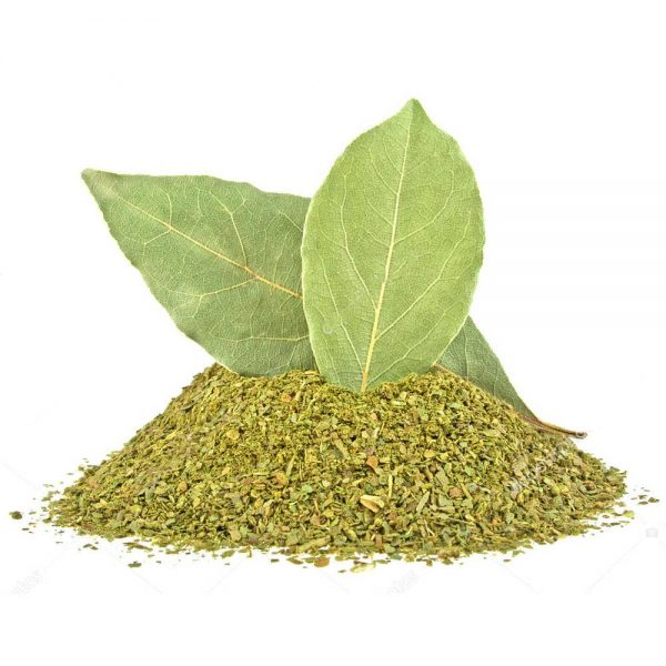 bay leaves and crushed bay