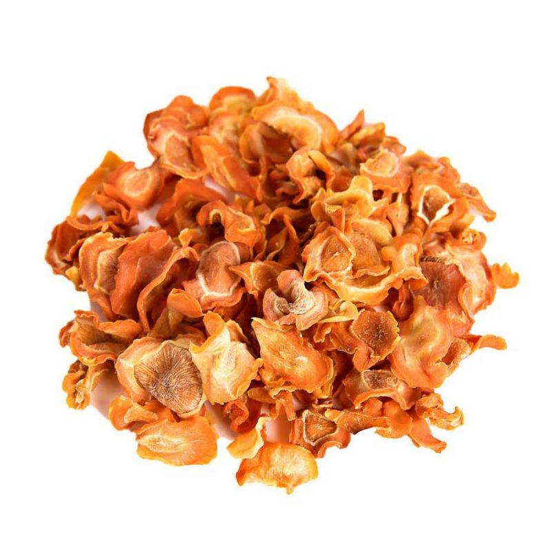 dried carrot slices