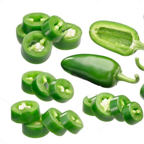 green chilli sliced and chopped